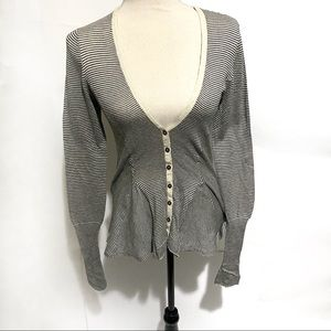 Anthropologie Sparrow Striped Lace Cardigan small